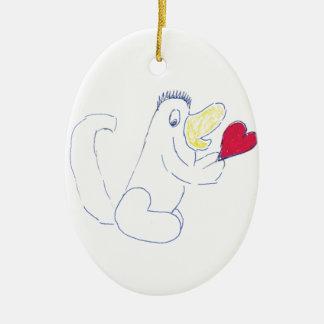 Liebe-Wanzen-ovale Keramik-Verzierung Keramik Ornament