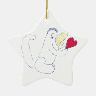 Liebe-Wanzen-Stern-Keramik-Weihnachtsverzierung Keramik Ornament