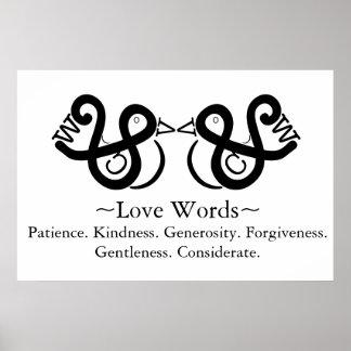 Liebe-Wörter Poster