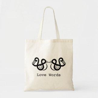 Liebe-Wörter Tragetasche