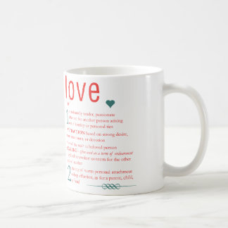 Liebe-Wörterbuch-Definitions-Typografie-Herz Tasse