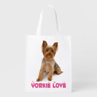 Liebe-Yorkshire-Terrier-Welpen-Hund Einkaufstaschen