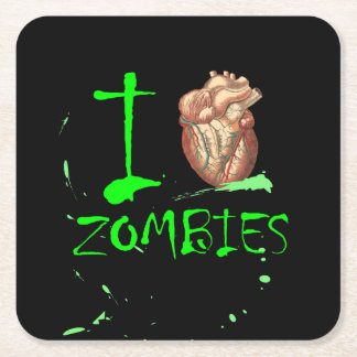 Liebe-Zombie-Party Apokalypse I Halloweens untotes Rechteckiger Pappuntersetzer