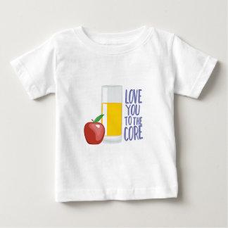 Liebe zu entkernen baby t-shirt