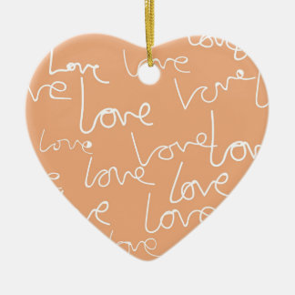 Liebegekritzel Keramik Herz-Ornament