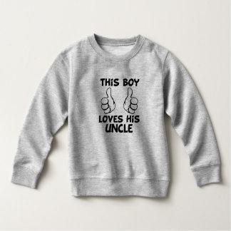 Lieben dieses Jungen seine lustige Sweatshirt