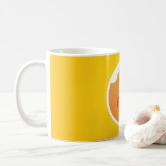 Liebenahrungsmittelgelb-Hintergrundentwurf Tasse