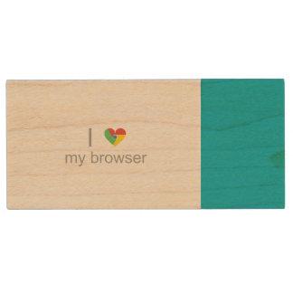 Liebevolles Chrom Holz USB Stick 3.0