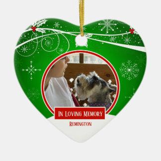 Liebevolles Gedächtnis-Haustier-im roten grünen Keramik Ornament