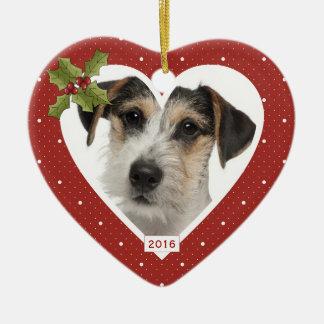 Liebevolles Gedächtnis-in der roten Keramik Herz-Ornament