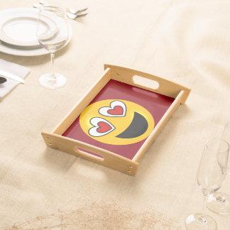 Liebevolles Herz Emoji Tablett