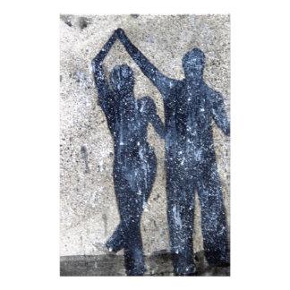 Liebhaber, die in Regen tanzen Briefpapier