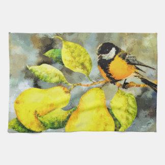 Liedvogel-Birnenbaum des Küchentuches hübscher Geschirrtuch