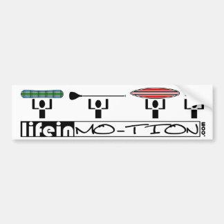 LifeinMotion_Bumpersticker Autoaufkleber