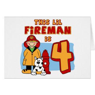 Lil Feuerwehrmann-4. Geburtstag Karte