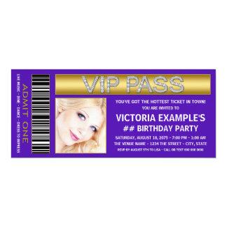 Lila 10,2 X 23,5 Cm Einladungskarte