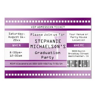 Lila Abschluss-oder Party-Aufnahme-Karte 8,9 X 12,7 Cm Einladungskarte
