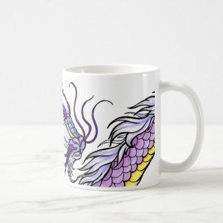 Lila asiatischer Drache Kaffeetasse