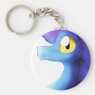 Lila/blauer Watercolor-Drache 1 Schlüsselanhänger