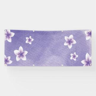 Lila Blumen der Schablone Banner