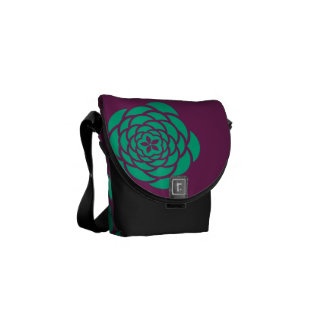 Lila Blumen-Power-Bote-Tasche Kurier Taschen