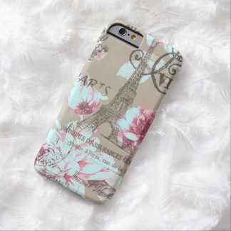 lila Blumen Turms Shabby Chicparis Eiffel Barely There iPhone 6 Hülle