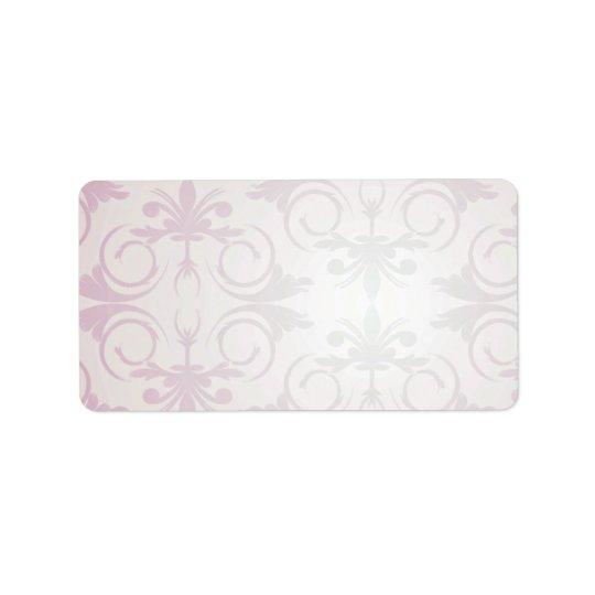 Lila Blumen- und Paisley-Mustergeschenk Adressaufkleber