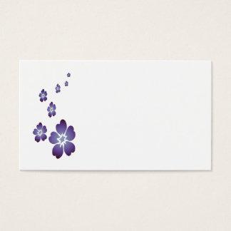 Lila Blumen Visitenkarten