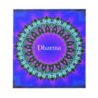 Lila Buddha-Wahrheiten Darma Mandala-Muster Notizblock