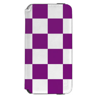 Lila Checkered Incipio Watson™ iPhone 6 Geldbörsen Hülle