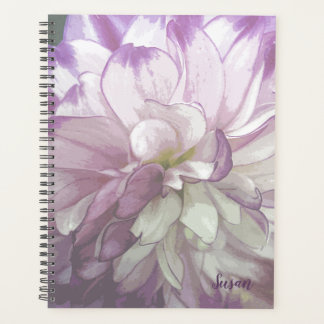 Lila Dahlie-mit Blumenwöchentliches/monatlich Planer