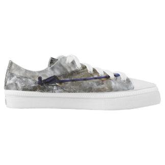 Lila Damselfly-Libellen-Natur Niedrig-geschnittene Sneaker