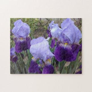 Lila deutsche Iris Puzzle