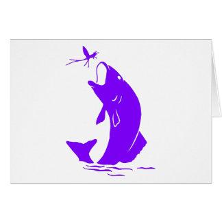 Lila Fische Grußkarte