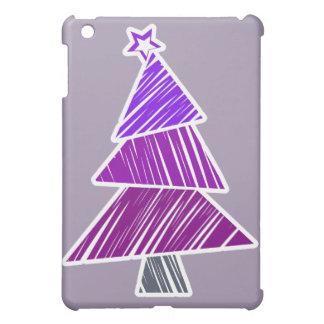 Lila flüchtiger Weihnachtsbaum iPad Mini Hülle