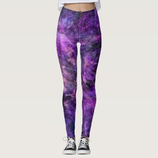 Lila galaktisches leggings