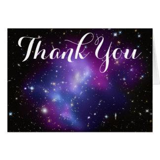 Lila Galaxie-Gruppe danken Ihnen Grußkarte