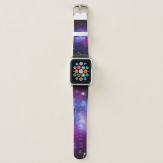 Lila Galaxie-Gruppen-Raum-Bild Apple Watch Armband