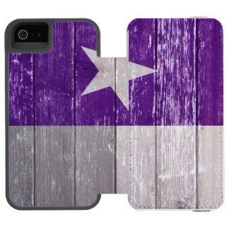 Lila gemaltes altes Holz Texas Flagge Incipio Watson™ iPhone 5 Geldbörsen Hülle