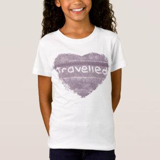 Lila gereister rustikaler Böhme der Reise T-Shirt