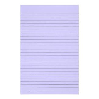 Lila gezeichnetes Briefpapier