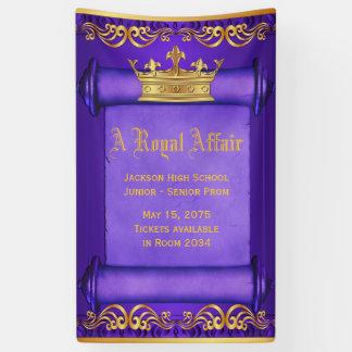 Lila Goldkönigliche Kronen-Fahne Banner