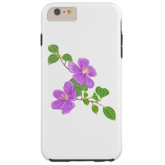Lila Gras-Blumen Tough iPhone 6 Plus Hülle