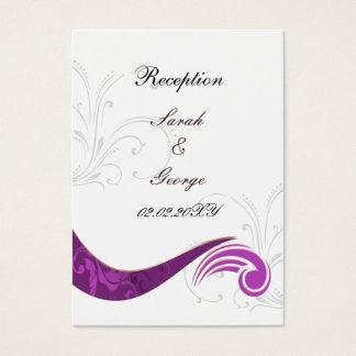 lila Hochzeit Empfangs-Karten Visitenkarte