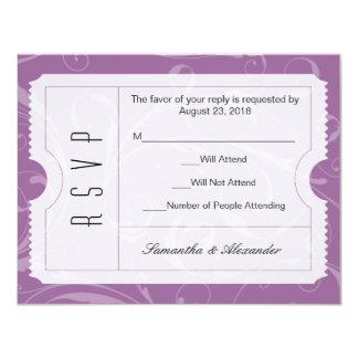 Lila Hochzeits-Karte UAWG Karte 10,8 X 14 Cm Einladungskarte