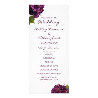Lila Hydrangea-Hochzeits-Programm Werbekarte