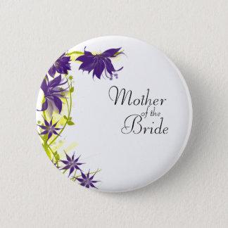 Lila Insel-Hochzeits-Blumen-Mutter der Braut Runder Button 5,7 Cm