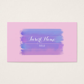 Lila klassische RoseWatercolorBrushstrokes Visitenkarten