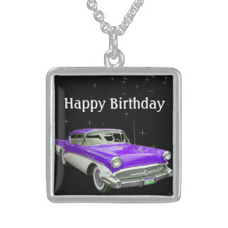 Lila klassischer Muskel-Auto-Geburtstags-heftiger Sterling Silberkette