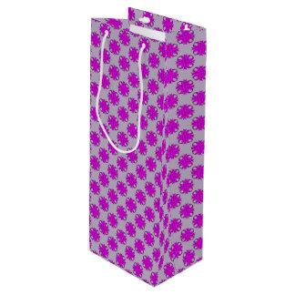 Lila Klee-Band Geschenktüte Für Weinflaschen